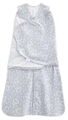 Halo SleepSack swaddle 100% cotton, Disney Baby confetti Mickey grey, newborn