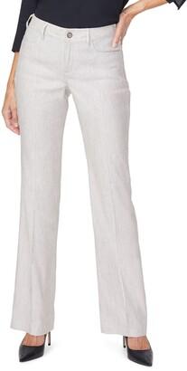 Curves 360 by NYDJ Stripe Wide Leg Linen Blend Pants