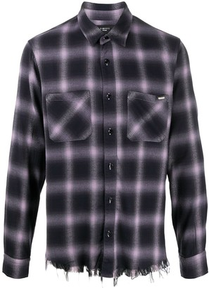 Amiri Shadow plaid-print shirt