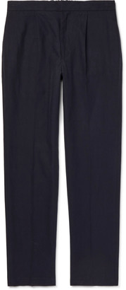 Camoshita Easy Silk Cotton And Linen-Blend Trousers