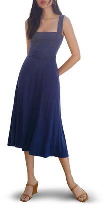 Reformation Helina Tie Back Midi Dress