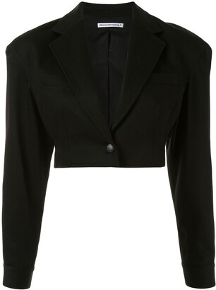 Alexander Wang Cropped Single-Breasted Blazer