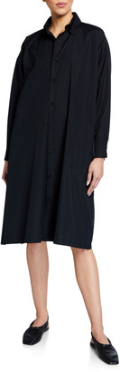 eskandar Slim A-Line Long-Sleeve Shirt