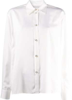 Alessandra Rich Faux Pearl-Button Shirt