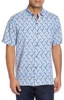 Tommy Bahama Men's Big & Tall Alcazar Tiles Silk Camp Shirt