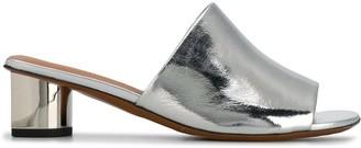 Clergerie Metallic Slip-On Mules
