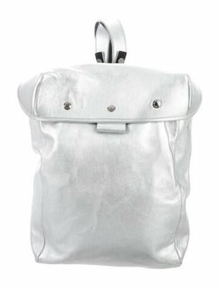 Jimmy Choo Leather Backpack Metallic