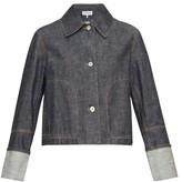 Loewe Contrast-stitch Denim Jacket - Womens - Indigo
