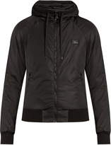Dolce & Gabbana Hooded shell and jersey zip-through jacket