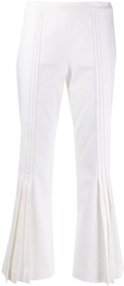 Marco De Vincenzo Pleated Flared Trousers