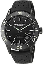 Raymond Weil Men's 'Freelancer' Swiss Automatic Stainless Steel and Rubber Casual Watch, Color:Black (Model: 2760-SB1-20001)