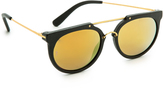 Cat Eye Wonderland Stateline Leather Sunglasses
