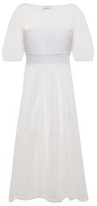 Sandro Malia Cutout Guipure Lace Midi Dress