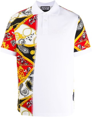 Versace Jeans Couture Chains-Print Polo Shirt