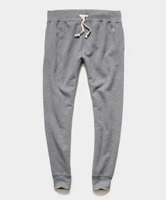 Todd Snyder Midweight Slim Jogger Sweatpant in Salt and Pepper