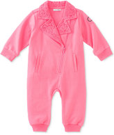 Calvin Klein Baby Girls' Lace-Collar Asymmetrical-Zip Coverall