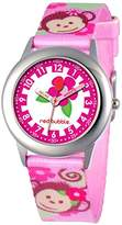 Red Bubble Red-Bubble Watch W002080-Girls-Educational Quartz White Dial Fabric Strap Multicoloured