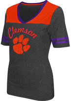 Women's Stadium Clemson Tigers College Twist V-Neck T-Shirt