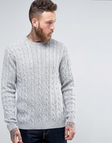 Asos Cable Jumper In Wool Mix