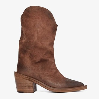 Marsèll Tall Suede Western Style Boot (Medium Brown) Women's Shoes