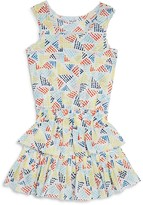 Splendid Girls' Printed Ruffle Dress