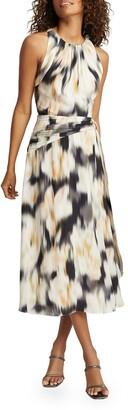 Reiss Gisele Strappy Back Midi Dress