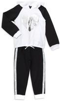 Calvin Klein Little Girl's 2-Piece Cotton-Blend Hoodie & Pants Set