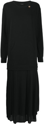 Liu Jo Pleated Sweatshirt Dress