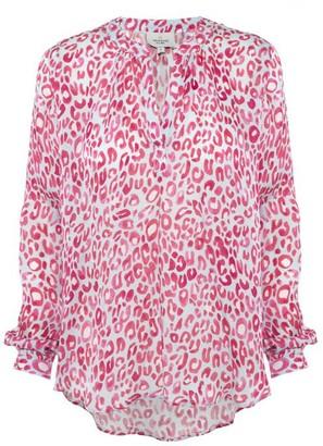 Primrose Park Sandy Shirt Blue Pink Leo - XS