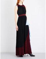 Roksanda Milda crystal pleated chiffon maxi dress