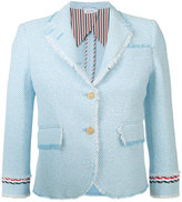 Thom Browne two button blazer - women - Silk/Cotton - 42