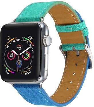 Posh Tech Turquoise/Blue Linen 42mm Apple Watch 1/2/3/4 Band