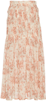 Brock Collection Sofia Floral Cotton Voile Skirt