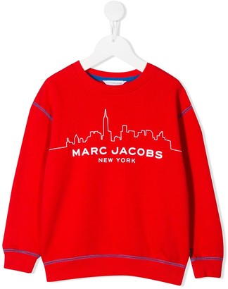 Little Marc Jacobs City Skyline Print Sweatshirt