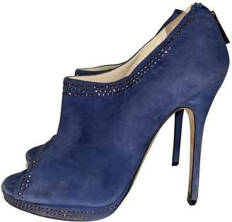 Jimmy Choo Blue Suede Heels