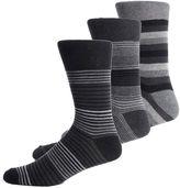 Asstd National Brand Gentle Grip 3-pk. Crew Socks