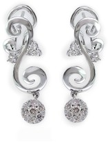 Effy Jewelry Pave Classica 14K White Gold Diamond Earrings, .58 TCW