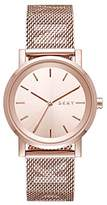 DKNY Women's 'SoHo' Quartz Stainless Steel Casual Watch, Color:Rose Gold-Toned (Model: NY2622)