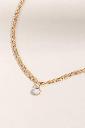 francesca's Jill Mother of Pearl Layered Choker - Gold