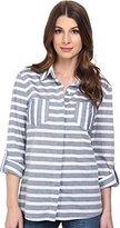 Splendid Women's Capri Novelty Stripe Pocket Shirt