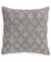 "Hotel Collection Linen Fog Embroidered 20"" Square Decorative Pillow, Created for Macy's"