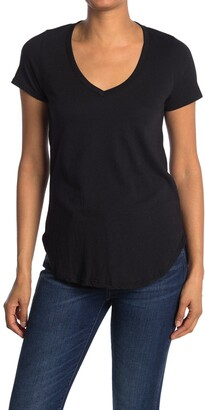 We My People V-Neck Curved Hem Tunic T-Shirt