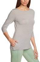 Eddie Bauer Women's Boat Neck 3/4 sleeve T-Shirt - Grey - 8