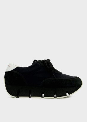Marni Women's Big Cut Sneaker in Black, Size 36 | Synthetic/Textile/Rubber