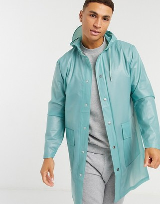 Rains transparent hooded rain jacket
