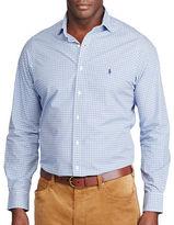 Polo Ralph Lauren Big and Tall Plaid Cotton Poplin Shirt