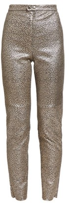 Isabel Marant Etienne Leopard-print Leather Trousers - Womens - Leopard