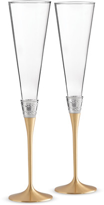 Vera Wang Golden With Love Toasting Flutes Set of 2
