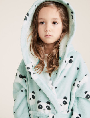 Marks and Spencer Fleece Panda Print Dressing Gown (1-7 Yrs)