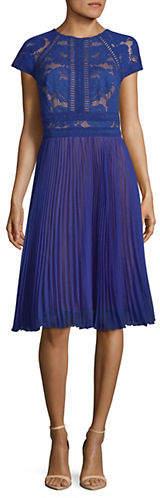 Tadashi Shoji Lace Chiffon Dress